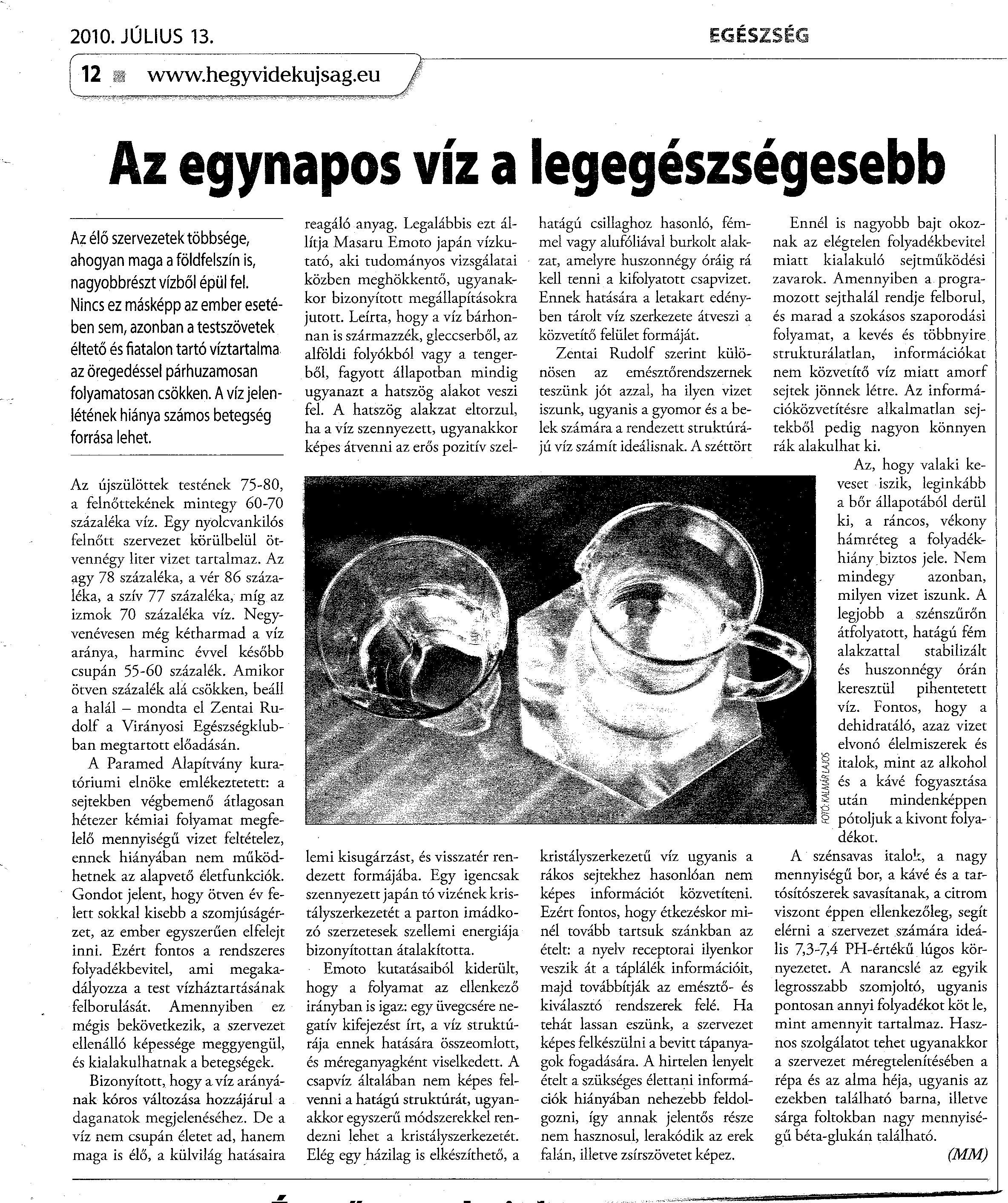 újságcikk a magas vérnyomásról